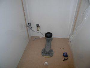 リモデル便器排水