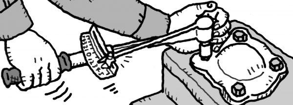 プレート型トルクレンチ 作業イメージ