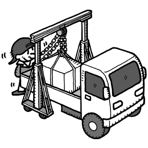 門型クレーンの使用イメージ