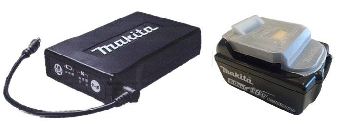 専用バッテリーと電動工具のバッテリー