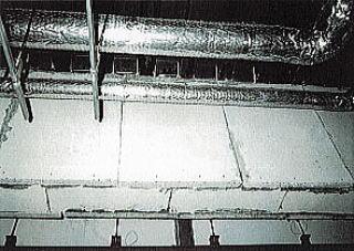 アスベスト含有ケイ酸カルシウム板(鉄骨造の耐火被覆)