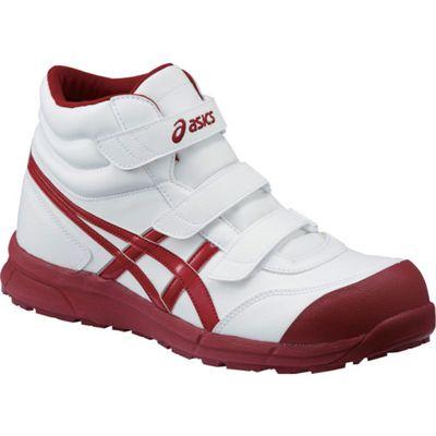 アシックス 安全靴ウィンジョブ CP302ホワイト×バーガンディ FCP302.0126