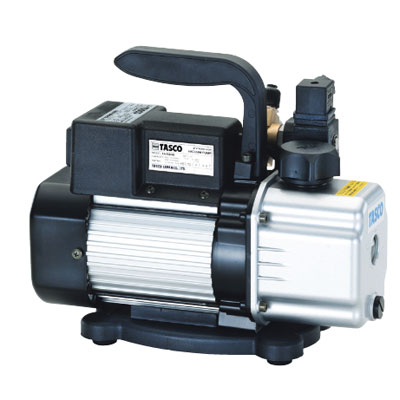 タスコ 小型高性能ツーステージ真空ポンプ(オイル逆流防止弁付) TA150RB