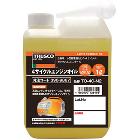 トラスコ 4サイクルエンジンオイル 1L 粘度10W-30 TO-4C-N2