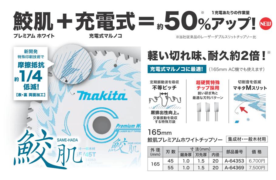 マキタ 鮫肌プレミアムホワイトチップソー2