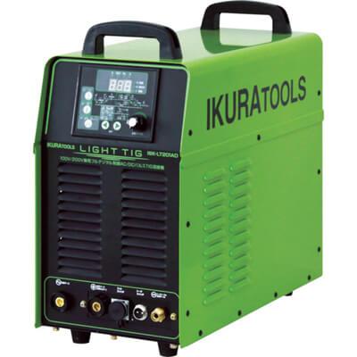 イクラ 100V/200V兼用フルデジタル制御AC/DCパルスTIG溶接機 ライトティグ ISK-LT201AD