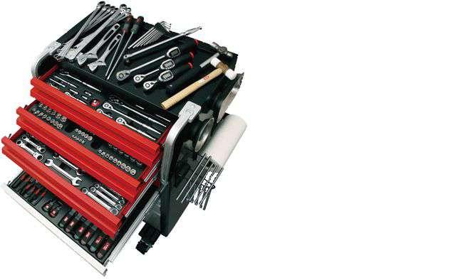 KTC  工具セット(ローラーキャビネットタイプ)220点 6.3sq 9.5sq 12.7sq  SK8038EX