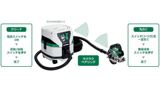 HiKOKI(日立工機) マルチボルト 36V 125mm充電式丸のこ C3605DA3