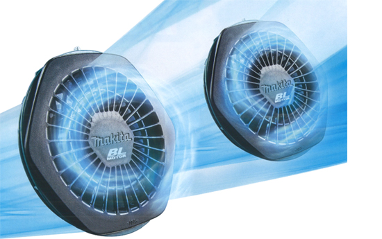 マキタ 充電式ファンジャケット 【ポリ100% 高はっ水 高透湿】 (※付属品別売) FJ218DZ6