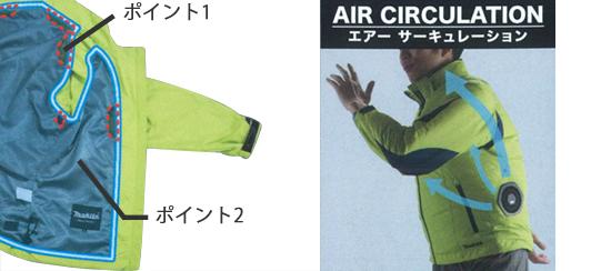 マキタ 充電式ファンジャケット 【ポリ100% 高はっ水 高透湿】 (※付属品別売) FJ218DZ8