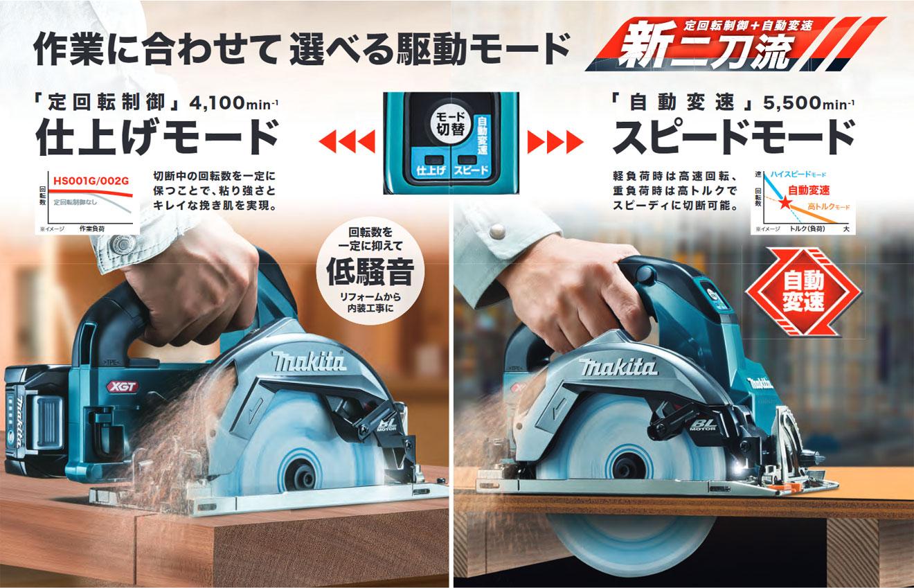 マキタ 165mm 40V 充電式マルノコ (鮫肌チップソー付) 【近日発売予定】 HS001G/002G3