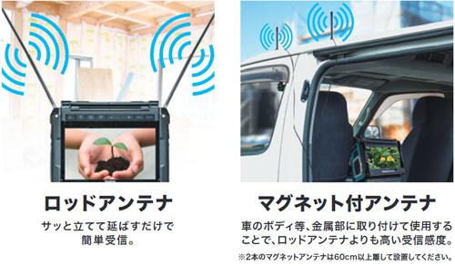 マキタ 充電式ラジオ付テレビ (バッテリー、充電器別売) TV1004