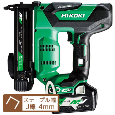 HiKOKI(日立工機) マルチボルト36V コードレスタッカ 【J線/4mm】 N3604DJ