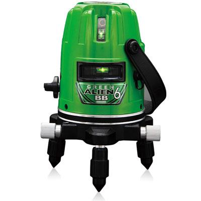 山真 レーザー墨出し器 グリーンエイリアンBB(4方向大矩照射) GA-06BB